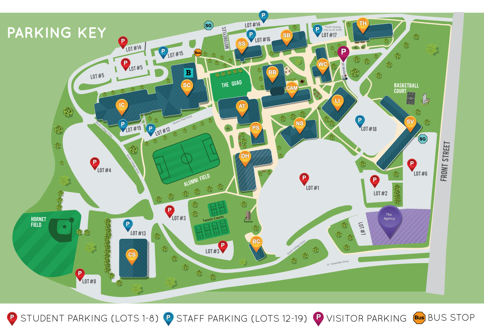 Parking and Campus Map on